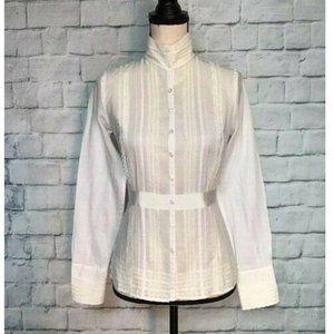 LOFT Off-White  Lace Women's Blouse Sz 0